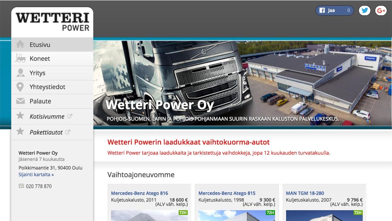 Wetteri Power vaihtokuorma-autot